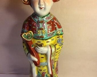 Asian Lady ceramic porcelain figure