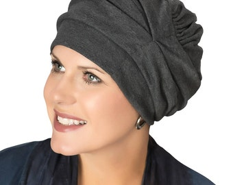 100% Cotton Trinity Turbans- 3 Way Head Covering for Women | Slouch Hat | Cancer Hats |  Cute Hats for Cancer Patients | Chemo Hats & Caps