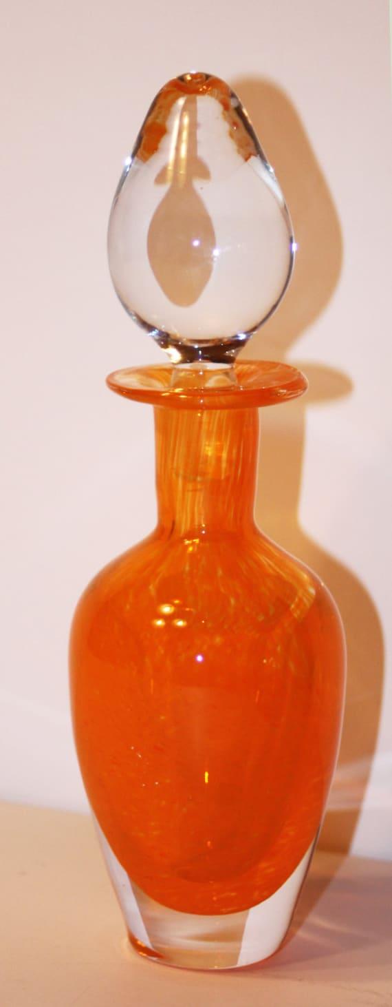 Vintage Mid Century Modern Perfume Bottle-Orange by ...