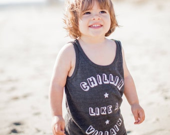 Rocker Baby. Toddler Tank. Kids Tee. Funny Tee. 80s. Chillin' Like a Villain Tank