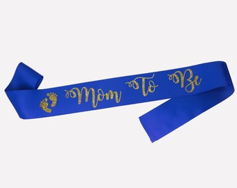 Mom To Be Sash, Maternity photo prop, Pregnancy Sash, Baby Sash, Mum to be sash, Baby Shower gift, Gender reveal,  18 colours
