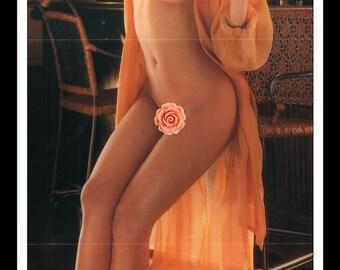 "Mature Playboy July 1996 : Playmate Centerfold Angel Lynn Boris Taylor Gatefold 3 Page Spread Photo Wall Art Decor 11"" x 23"""