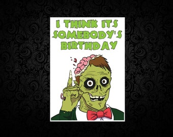 Zombie - Digital Birthday Card