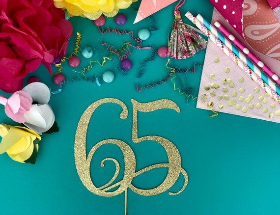 65th birthday party ideas number 65 cake topper for 65th birthday party decoration ideas