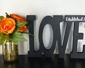 Wedding Decorations, Love Established in 2017, Gift Ideas for Her, Great Home Decor