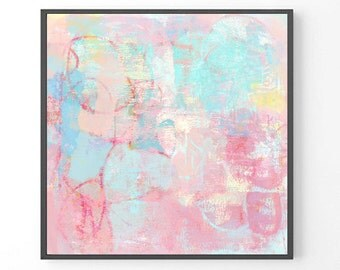 Large abstract painting, Large wall art, modern large print, pastel abstract art, abstract painting, pastel prints, apartment wall art