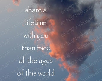 Tolkien: I would rather share a lifetime with you than face all the ages of this world alone..