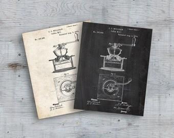75% OFF SALE - Coffee Mill Patent Poster, Coffee Mill Poster, Coffee Patent, Cafe Decor, Coffee Poster, Kitchen Decor, Coffee Mill Wall Art