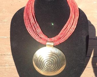 Tuareg necklace (red) %40 sale