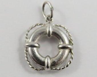 Life Ring Sterling Silver Vintage Charm For Bracelet