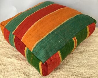 Moroccan Kilim Pouffe / Floor Cushions Cover
