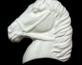 Horse Sculpture Unpainted Plaster Art & Craft Project for Painting (Left)