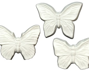 Butterfly Sculpture Trio Unpainted Plaster Art & Craft Project for Painting