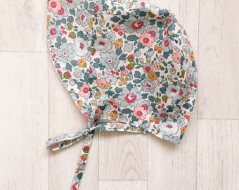 JASMINE Handmade Liberty of London Print BRIMMED Summer Bonnet Girls Tana Lawn Hat