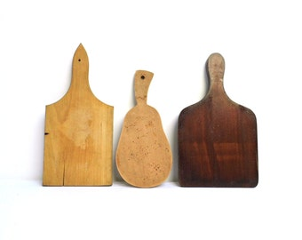 Vintage Wood Cutting Board Chopping Board with Handle Small Rustic Board Bread Cheese Serving Wooden Onion Board Farmhouse Kitchen Decor
