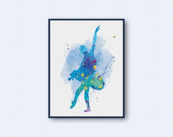 Ballerina Watercolor Poster