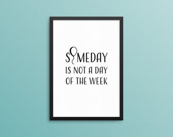 Wall Art. Inspirational Quote Print. Motivational Quote Print. Balloon Art Print. Funny Quote. Black White. Digital Download. Wall Sign