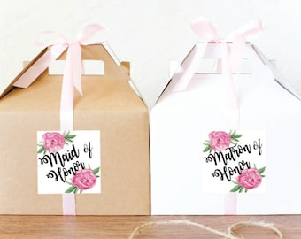 Bridesmaid gift box / Will you be my bridesmaid box / Maid of Honor gift box / Will you be my maid of honor / Bridesmaid thank -GBW-36