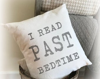 Book Worm Pillow Cover, Reading Pillow, Book Lover