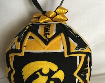 IOWA HAWKEYES Ornament Made From Iowa Fabric,Quilted Ornaments,Iowa Hawkeyes,Iowa,Hawkeyes,College Ornaments,Christms Ornaments,NCAA Decor
