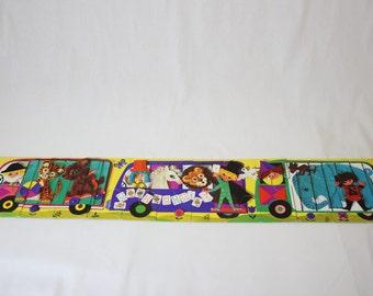 Puzzle fernand nathan vintage, puzzle big pieces, puzzle train, puzzle nina morel
