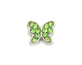 August Butterfly Birthstone Floating Charm