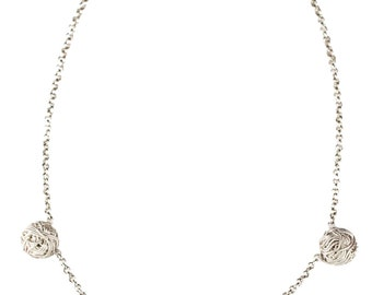 LIMITED EDITION 925 Silver Necklace, Tangly Collection