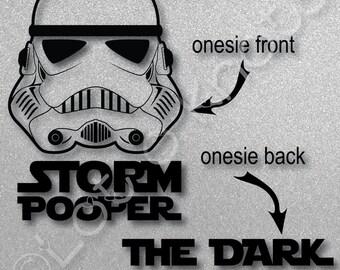 Storm Pooper The Dark Side · Funny baby design idea · {svg, dxf, jpg, & pdf files included} · SVG NOT Cricut COMPATIBLE