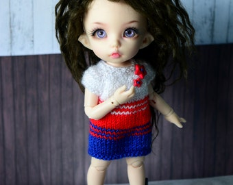 christmas dress for pukifee bjd dolls sweater