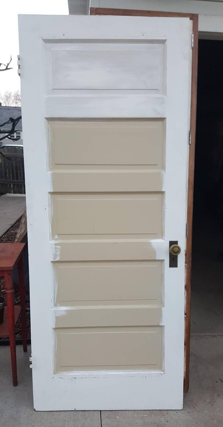 Old Wood Door, Interior Door, Building Supply, Architectural Salvaged,  Farmhouse Remodel, Cottage, Reclaimed, 5 Panel Door, Solid Wood AF39 - Old Wood Door, Interior Door, Building Supply, Architectural