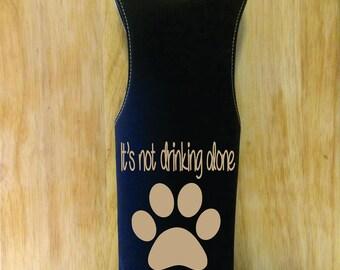wine tote, wine bag tote, wine cover, wine cozie, dog wine bag tote, pet lover wine tote, dog wine bag, gift wine bag, paw wine bag tote