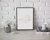 Do Something Amazing Today Print, Rose Gold Print, Inspirational Poster, Bedroom Decor, Quote Print, Typography Print, Motivational Poster