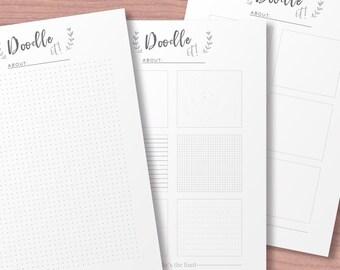 Idea Planner, Printable Planner Inserts, Productivity Organizer, Minimal Project Log, Printable Creative Planner, Productivity Idea Note