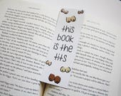 This Book is the Tits Bookmark // Funny Bookmark // Funny Gift for Reader // Gift for Readers // Mature Bookmark // Gag Gift