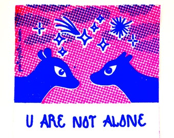 Screenprint Sticker // Friendship // Love