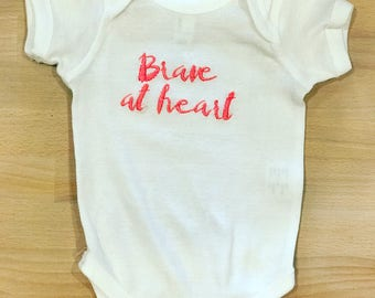 Onesie// Baby Clothing// Brave at heart.