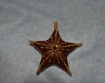 Peyote Embellished Star Pattern