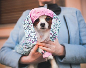 Waterproof Raincoat with the Cool bunny ears - Dog Coat - Dog Raincoat - Dog Clothing - Pet Clothes - Available to Any Breed