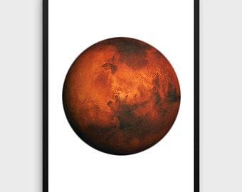 Mars Print   Mars Poster, Mars Printable, Mars Decor, Mars Photography, Planet Poster, Planet Printable, Planet Print, Planet Wall Art, Art
