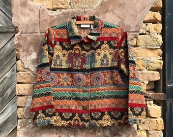 Vintage Floral Tapestry Jacket | medium