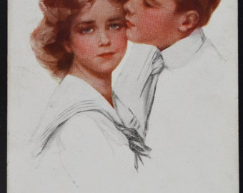 Artist Signed Philip Boileau Postcard His First Love Series 213
