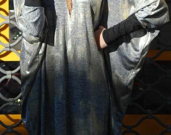 Final sale, Kimono , Lurex dress, Silver dress, Evening dress, Kimono dress , Oversized dress, Boho dress, Loose dress