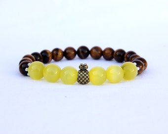 pineapple jewelry gift for girlfriend jewelry housewarming gift vegan jewelry housewarming jewelry housewarming Bracelet pineapple Bracelet