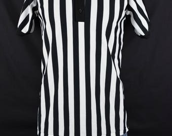 Vintage 80s Referee shirt / Hockey Linesman / Pro Wrestling / Athletic Sports / Don Alleson / Uniform / Fits like a Large