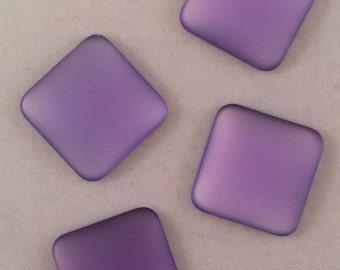 Lunasoft Cabochons, 17mm, Lavender, LNSQ17-LVN, 2 Beads
