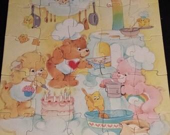 """Vintage 1986 Care Bears 25 pc Puzzle, 10""""x13"""""""