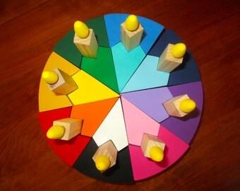 Wooden Birthday Cake Puzzle