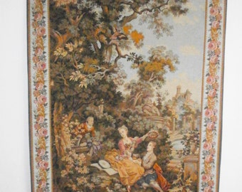 Authentic Vintage tapestry panels goblins JP Paris Made In France-Authentic french Tapestry JP Paris Made In France goblins panels