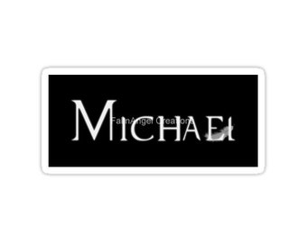 Supernatural Michael with Feather Sticker, 4 Sizes Available! Archangel