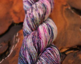 """Hand Painted """"Star Dust"""", Worsted, Super Wash Merino, Speckles, Knit, Crochet, Yarn"""